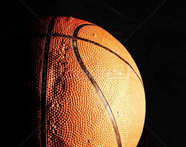 basketball ball in dark Stock photo © zurijeta