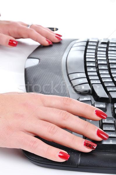 Female hands typing Stock photo © zurijeta