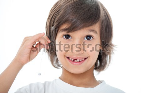 Portrait innocent Kid cute sourire visage Photo stock © zurijeta