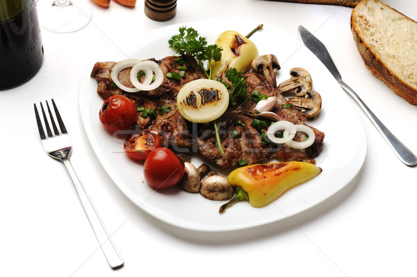 Сток-фото: подготовленный · украшенный · продовольствие · таблице · домой
