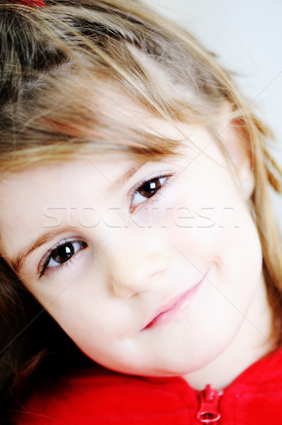 Hi key portrait of little blond girl Stock photo © zurijeta