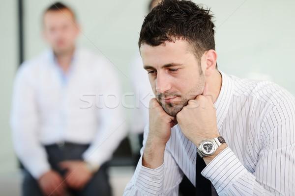 деловые люди подчеркнуть служба человека бизнесмен Сток-фото © zurijeta