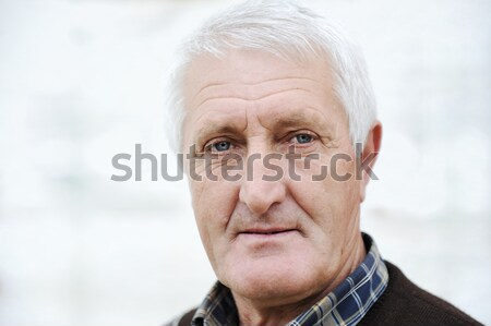 Closeup Profile on a good looking  Old Man Stock photo © zurijeta