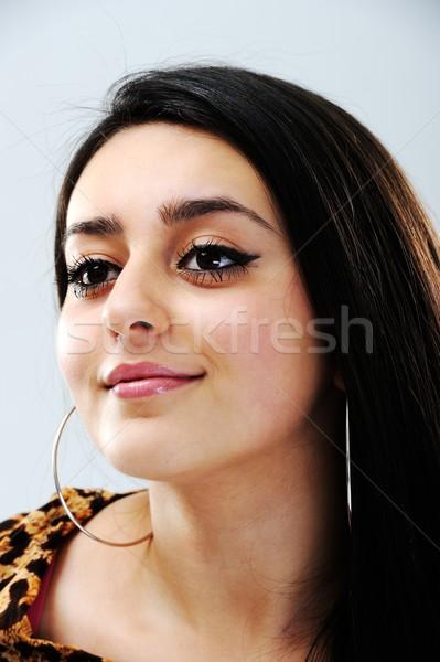 Güzellik esmer kadın portre güzel kız Stok fotoğraf © zurijeta