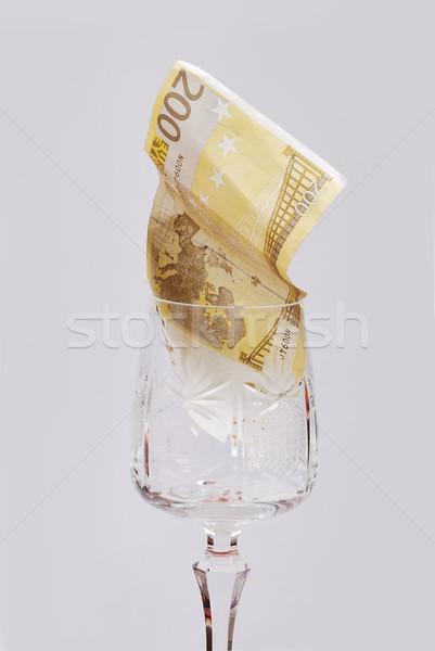 Une cent euros verre papier texture Photo stock © zurijeta