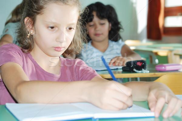Pupil activities in the classroom at school Stock photo © zurijeta