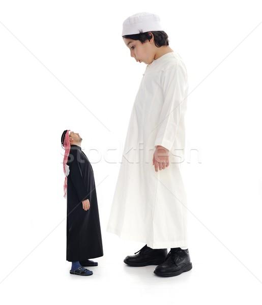 Stockfoto: Arabisch · groot · klein · volwassen · kind · familie