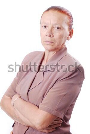Portrait of middle aged white woman Stock photo © zurijeta