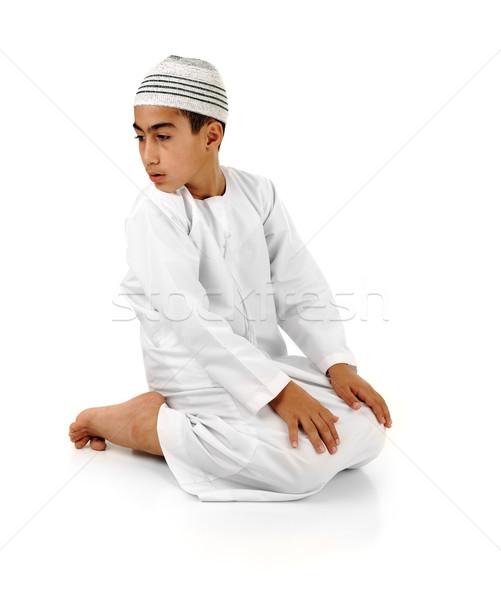 Dua açıklama tok Arapça çocuk Stok fotoğraf © zurijeta