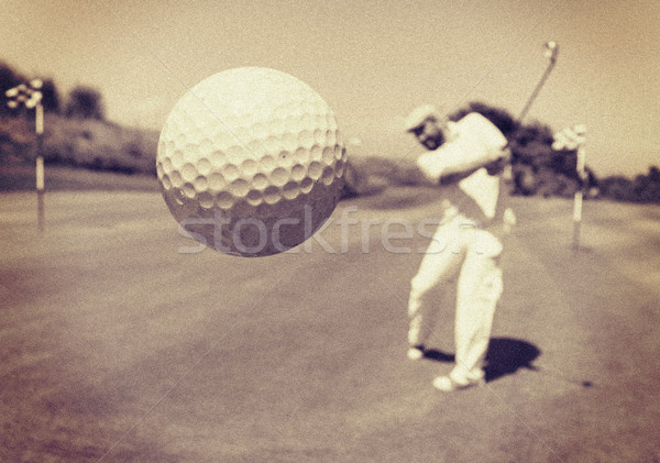 Man playing golf at club Stock photo © zurijeta