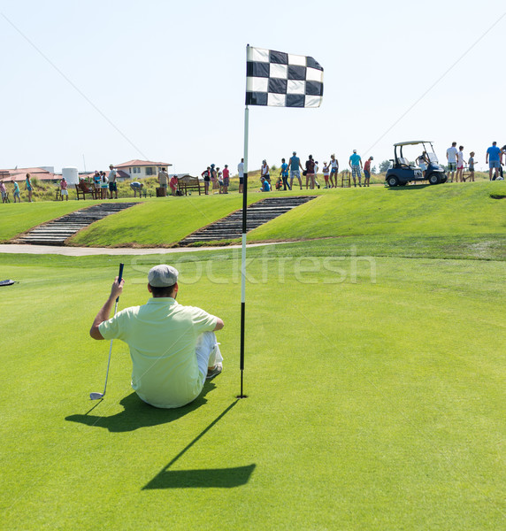 Stockfoto: Man · spelen · golf · club · business · sport