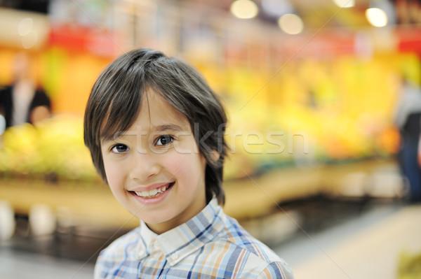 élégant souriant garçon épicerie visage enfants Photo stock © zurijeta