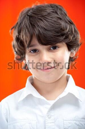 портрет Kid ребенка улыбка лице Сток-фото © zurijeta