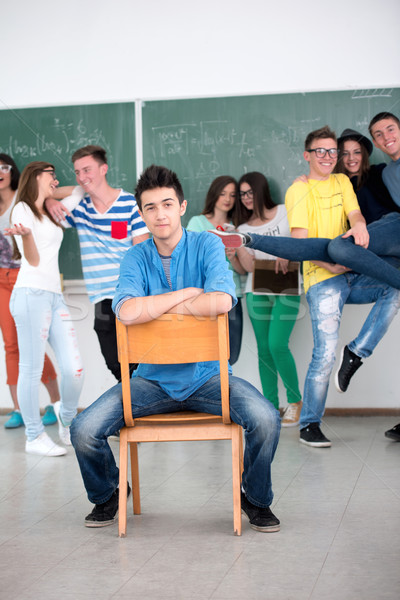 High school student with his classmates Stock photo © zurijeta