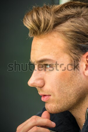 Young man studio shoot posing closeup Stock photo © zurijeta