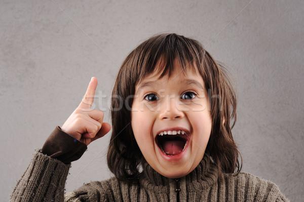 Estudante inteligente criança anos velho expressões faciais Foto stock © zurijeta
