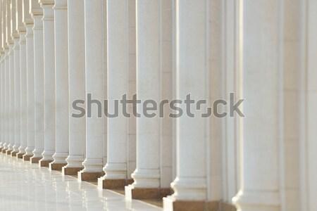 Rangée bâtiment éducation pierre bibliothèque asian Photo stock © zurijeta