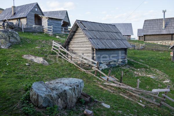 Stock photo: Mountain village