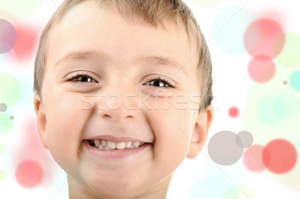 Une Kid beaucoup visages astucieux écolier Photo stock © zurijeta