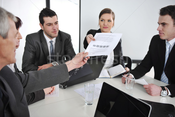 Giving a task at business meeting Stock photo © zurijeta