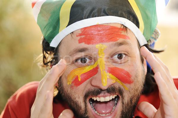 Supporter yelling Stock photo © zurijeta