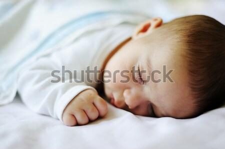 Adorable little boy sleeping at home Stock photo © zurijeta