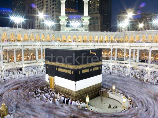 Stock fotó: új · képek · Mecca · helyreállítás · szent · mecset