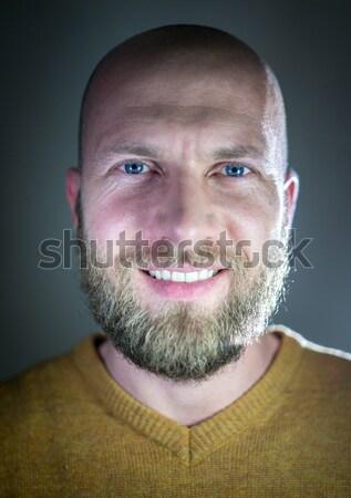 Bald young handsome man with blond beard Stock photo © zurijeta