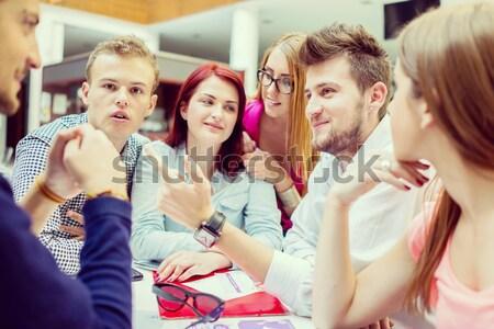 Сток-фото: изображение · молодые · партнеры · мозговая · атака