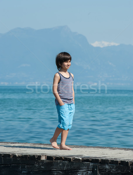 Kid vacances d'été mer rive heureux enfant Photo stock © zurijeta