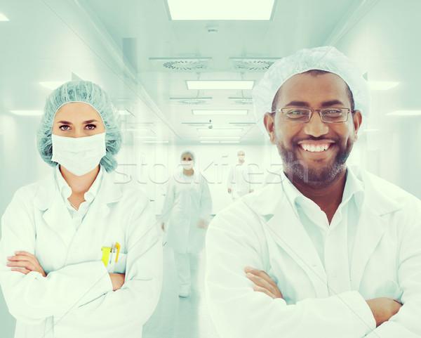 Stok fotoğraf: Grup · doktorlar · hastane · kadın · sağlık · tıp