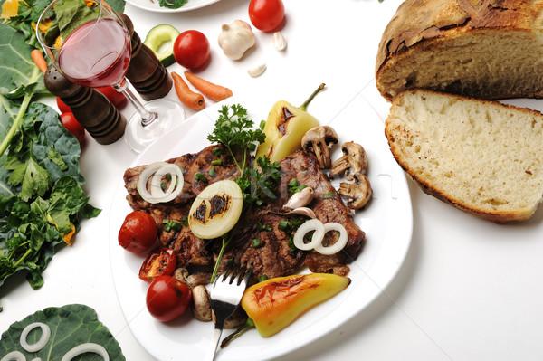Delicioso preparado decorado comida tabela restaurante Foto stock © zurijeta