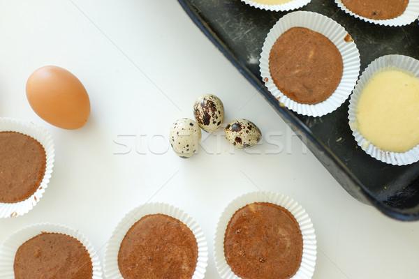 Caseiro bolo festa cozinha tabela trigo Foto stock © zurijeta