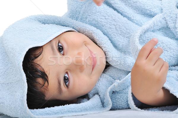 Twarz niewinność szczęśliwy dzieciństwo szata odizolowany Zdjęcia stock © zurijeta