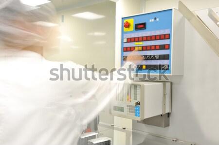 Schakelaar paneel moderne fabriek business werk Stockfoto © zurijeta
