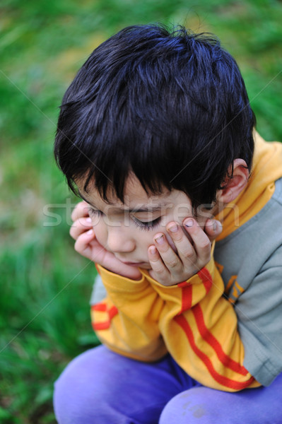 sad children in nature outdoor  Stock photo © zurijeta