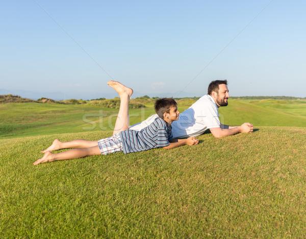 En iyi yaz tatili tatil mutlu yaz tatili çocuklar Stok fotoğraf © zurijeta