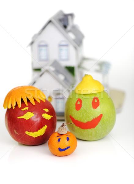 Casa di famiglia frutta famiglia casa alimentare mela Foto d'archivio © zurijeta