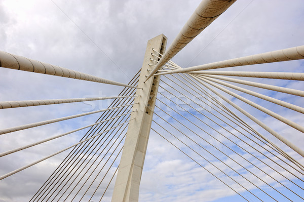 Bridge in modern architecture style, Podgorica, Montenegro Stock photo © zurijeta