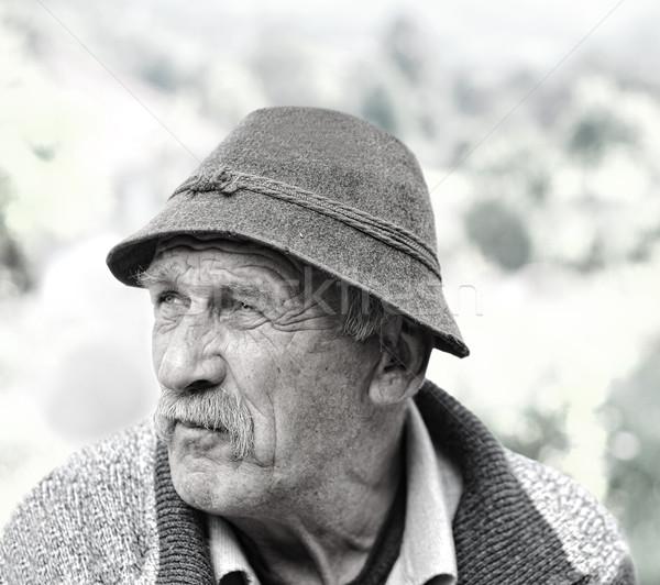 Senior man portrait outdoors Stock photo © zurijeta
