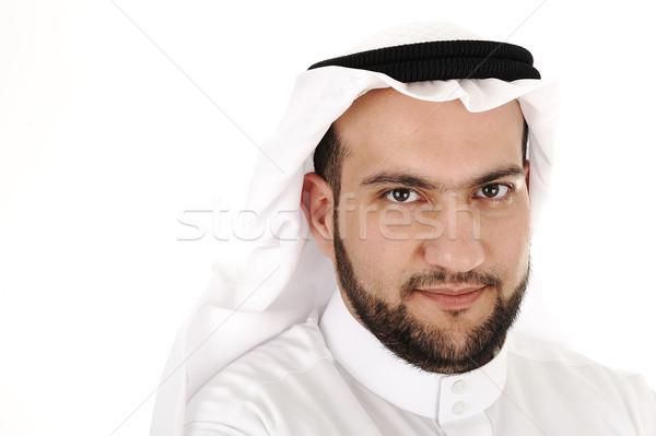 арабский человека портрет изолированный бизнеса фон Сток-фото © zurijeta