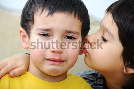 Crying kid, emotional scene Stock photo © zurijeta