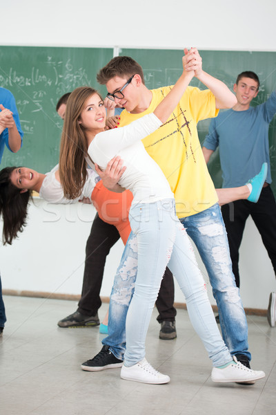 Fille danse Homme compagne classe Photo stock © zurijeta
