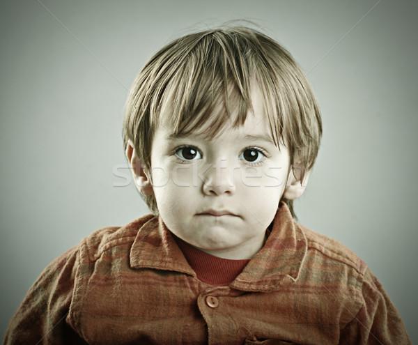 Stok fotoğraf: Bebek · iki · yıl · eski · poz · eski · moda