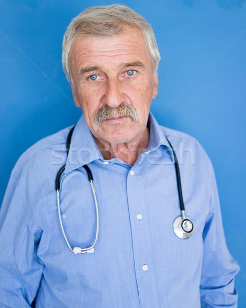 Retrato altos médico azul médicos mano Foto stock © zurijeta