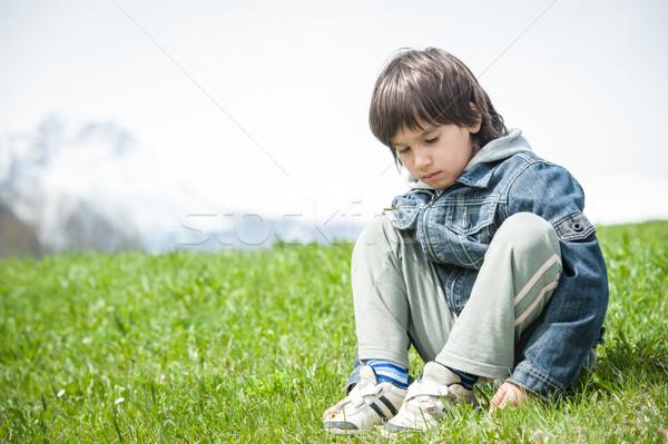 少年 美しい 春 休暇 のどかな ストックフォト © zurijeta