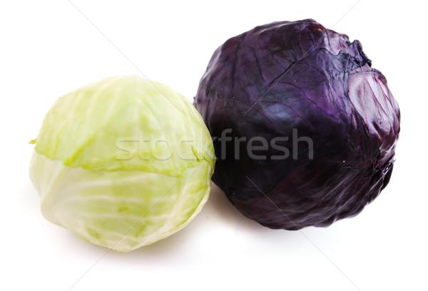Feketefehér káposzta étel levél zöld sötét Stock fotó © zurijeta