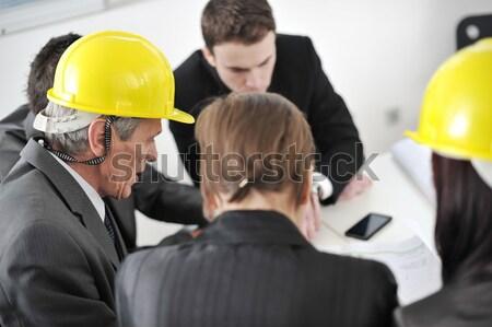 Insanlar ofis iş çalışmak işadamı grup Stok fotoğraf © zurijeta
