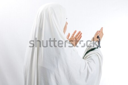 Asian arabic muslim woman with significant clothes Stock photo © zurijeta