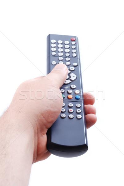 Távirányító kéz használt felnőtt férfi üzlet Stock fotó © zurijeta